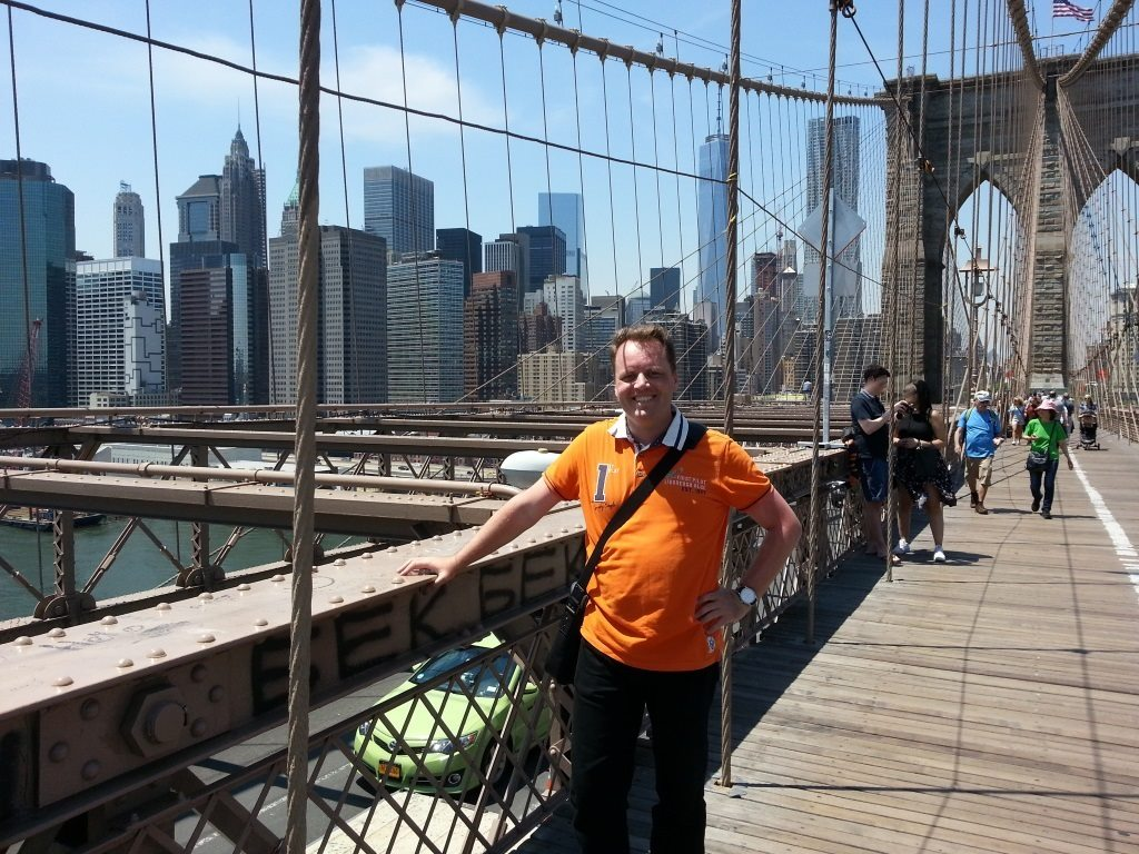 Selfie of Morten René at Brooklyn Bridge