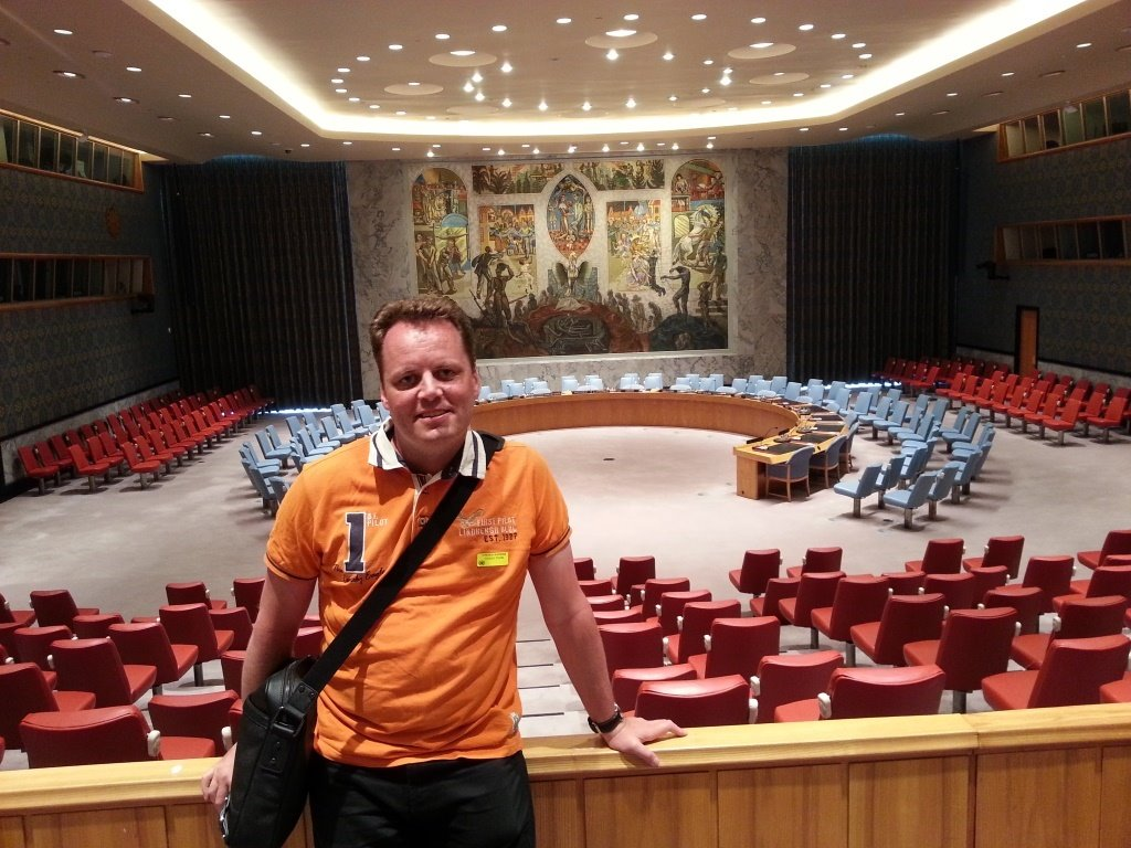 Selfie of Morten René in UN